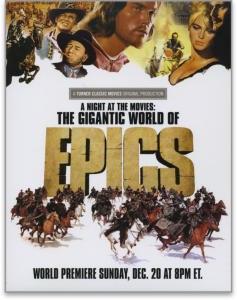 Image of movie poster for A NIGHT AT THE MOVIES: THE GIGANTIC WORLD OF EPICS directed by Laurent Bouzereau
